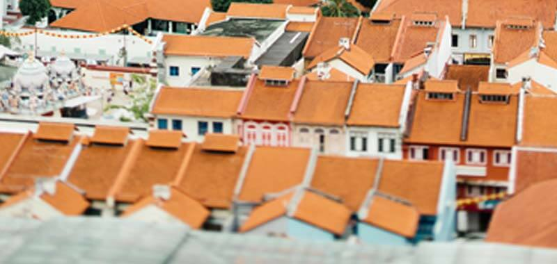 View of roofs in a city